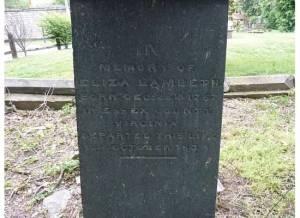Eliza Lambeth's Gravestone