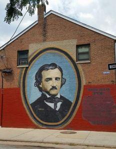 Artwork near the Poe house. Photo my own.